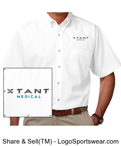 Mens Short Sleeve Stain Release Poplin Design Zoom