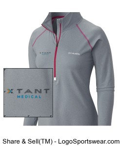 Columbia Ladies Trail Summit Half-Zip Pullover Design Zoom